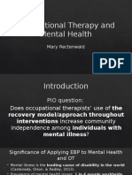 occupational therapy and mental health- add summary and bullet points