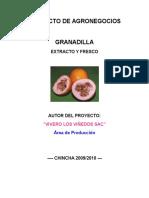 Cultivo Granadilla Campo Abierto