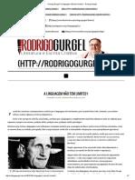 Rodrigo Gurgel _ a Linguagem Não Tem Limites_ - Rodrigo Gurgel