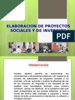 Elaboracion de Proyectos Sociales de Inversion