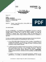 Respuesta Ministerio de Transporte Chaleco Reflectivo