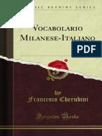 Vocabolario Milanese-Italiano 1300008311