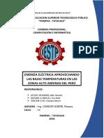 Energia Electrica en Zonas Altoandinas