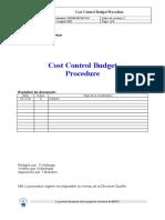 Cost Control Budget DOP3000-PRC-007!0!03