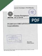 Puertas Corta Fuego. Generalidades - INTN Paraguay