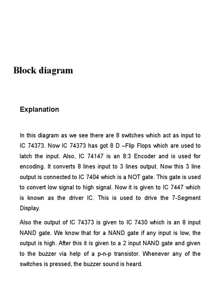 Electronic Jam Soldering Troubleshooting 7 Segment Block Diagram