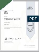 Certificado UNAM Coursera U3NACUGLMGMQ