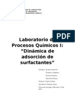 Dinamica de adsorción de surfactantes
