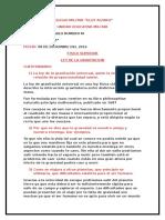 Ley de La Gravitacion-Informe