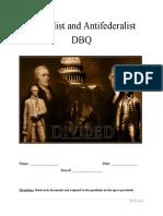 federalist and antifederalist dbq packet