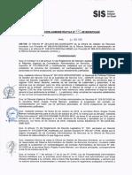 Resolución Administrativa N° 772-2016-SIS/OGAR