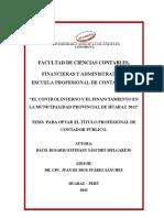 El Control Interno y El Financiamiento en La Municipalidad Provincial de Huaraz 2012