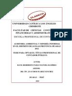 Auditoría Ambiental y Minería Informal en El Distrito de Jangas Provincia Huaraz 2012