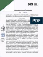 Resolución Administrativa N° 771-2016-SIS/OGAR