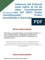Análisis Sentencia Del Tribunal Constitucional 17-08-15