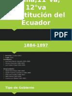 10°ma,11°va, 12°va Constitución del Ecuador0