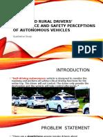 The Acceptance Perceptions Autonomous Cars