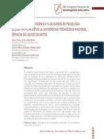 EVALUACIÓN DE LA DOCENCIA Y LOS CURSOS DE PSICOLOGÍA EDUCATIVA PLAN 09 DE LA UNIVERSIDAD PEDAGÓGICA NACIONAL. OPINIÓN DE LOS ESTUDIANTES