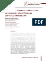 EVALUACIÓN DE IMPACTO DE PROYECTOS INTEGRADORES DE UN PROGRAMA EDUCATIVO UNIVERSITARIO