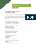 Caracteristicas de Los Niños de 0 a 6 Años Trabajo a Diustyancia