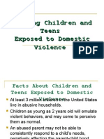 Helping Children and Teens Affected by Domestiv Violence