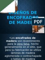 Diseños de Encofrados de Madera