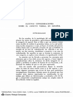Algunas Consideraciones Sobre El Aspecto Verbal en Espanol - Lucia T. de Castro