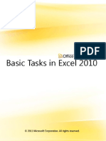 Basic Tasks in Excel 2010