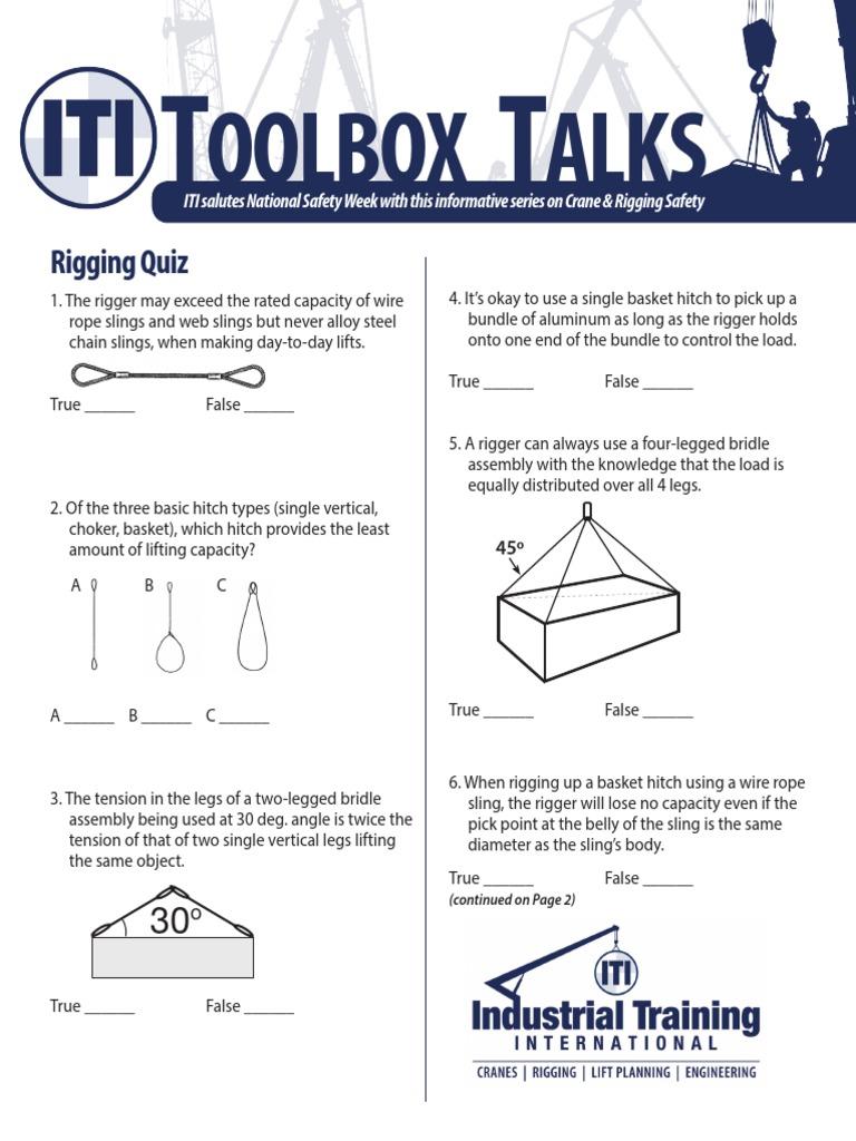 manual chain hoist inspection checklist