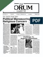 The Forum Gazette Vol. 3 No. 16 August 20-September 4, 1988