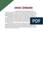 Premier Debate Briefs ND14