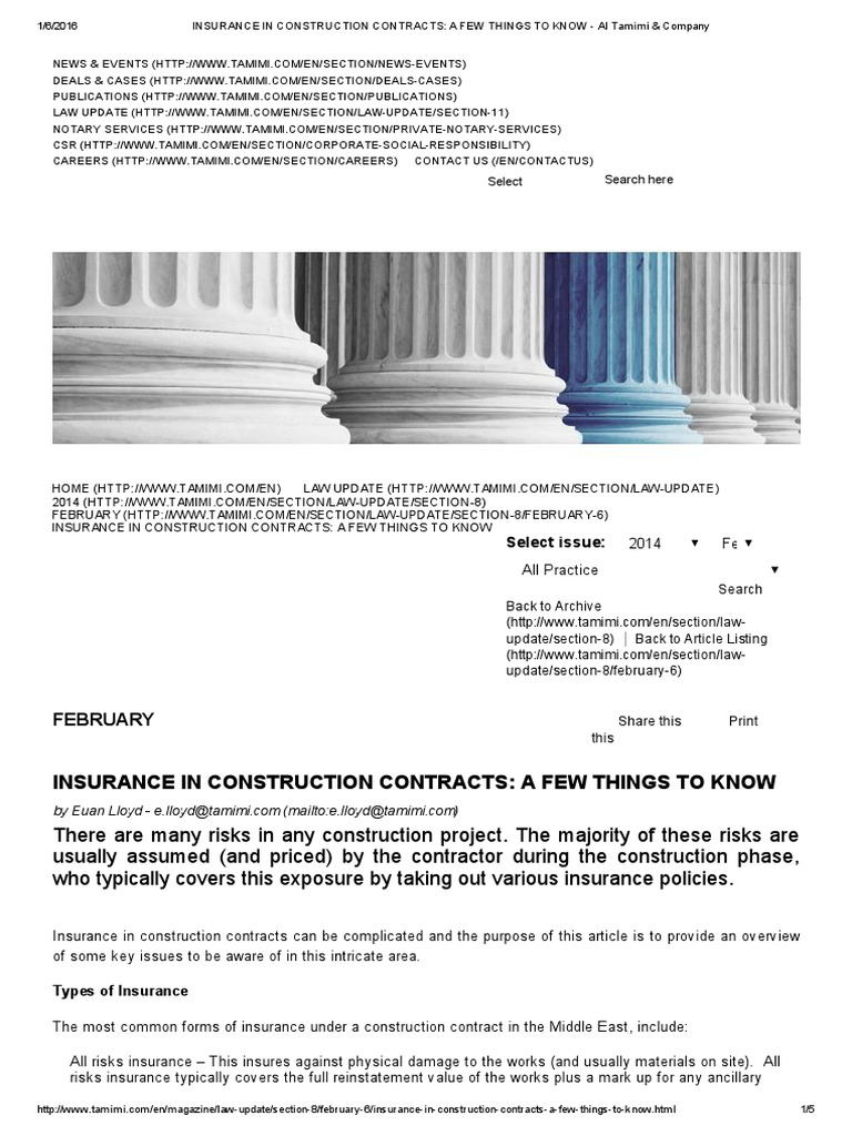 Insurance In Construction Contracts_ A Few Things To Know | Professional  Liability Insurance | Insurance
