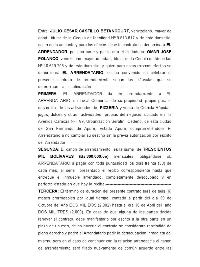 100+ ideas Descargar Contrato De Alquiler on ...