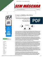 Mídia Sem Máscara - O Caos e a Dialética Dos Efeitos