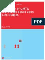 UMTS Link Budget