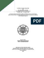 Laporan Kerja Praktik PLTU Suralaya