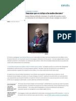 """""""Los Profesores Deben Fomentar Que Se Excluya a Los Malos Docentes"""" _ España _ EL PAÍS"""