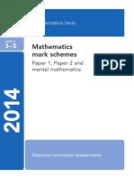2014 KS2 L3-5 Mathematics Markscheme