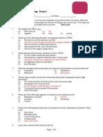 Sample Exam E1 ANS