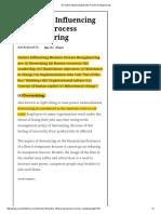 10 Factors Influencing Business Process Reengineering