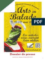 DOSSIER DE PRESSE ///// LES ARTS EN BALADE 2014