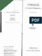 Gustave Glotz LOrdalie Dans La Grece Primitive, Etude de Droit Et de Mythologie, These