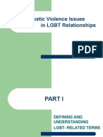 Domestic Violence in LGBTQ Relationships