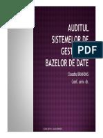 Auditul Sistemelor de Gestiune a Bazelor de Date