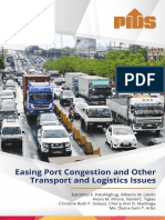 Philippine Institute for Development Studies Transport and Logistics Study
