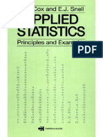 Applied Statistics - Principles and Examples - D. Cox, E. Snell (Chapman and Hall, 1981) WW