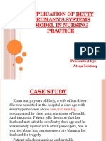 Application of Betty Neumann's Systems Model in NURSING