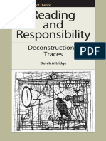 (Frontiers of Theory) Attridge, Derek_ Derrida, Jacques-Reading and Responsibility _ Deconstruction's Traces-Edinburgh University Press (2010)