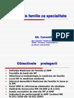 Medicina Defamilie CA Specialitate