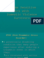 Trauma Sensitive Work with Domestic Violence Victims